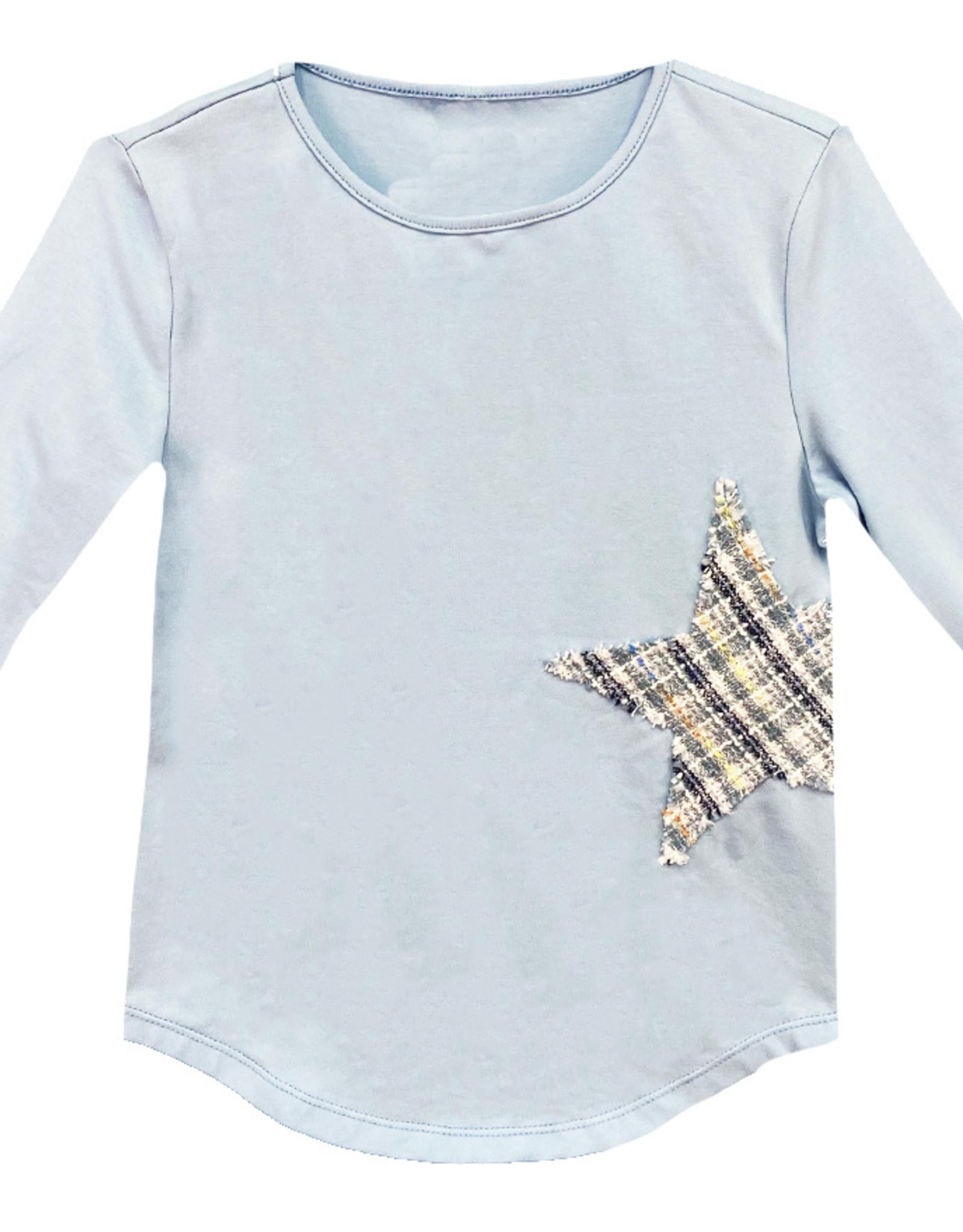 MeMe Basics MeMe Basics Tshirt with Star Tweed Patch