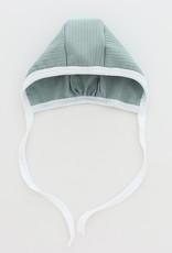 HATCH'd HATCH'D Ribbed White Trim 3 Piece Set (Footie/Bonnet/Blanket)