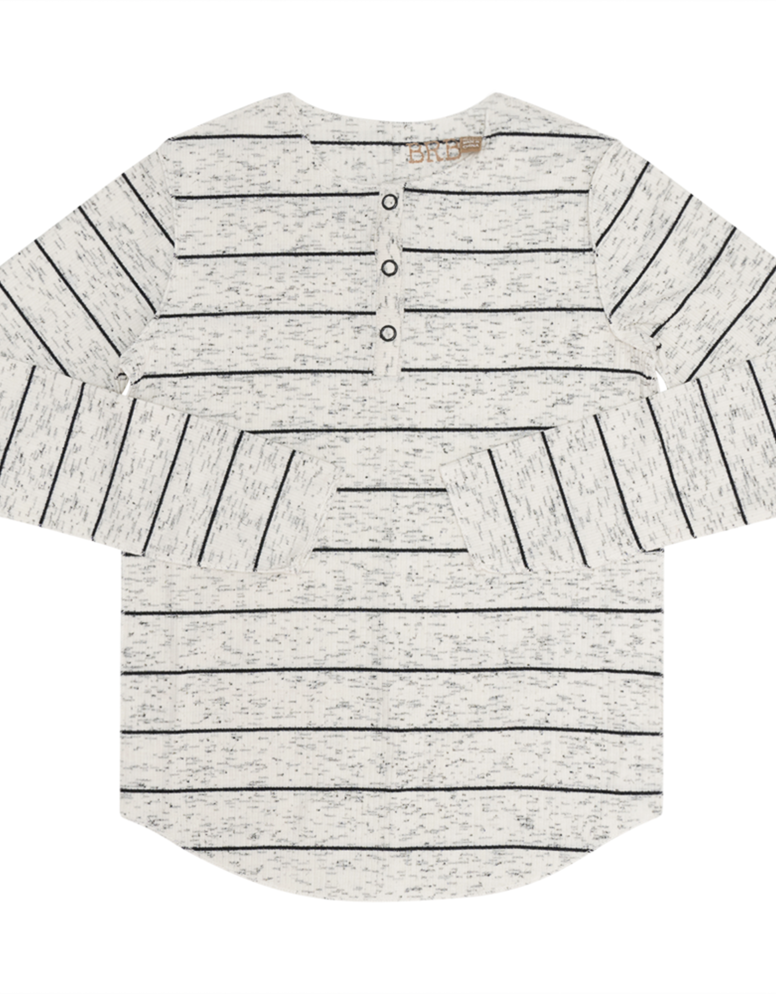 BRB BRB Ribbed Stripes Long Sleeve Henley