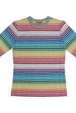 So What So What Rainbow Striped T-Shirt