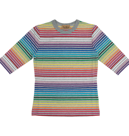 So What So What Rainbow Striped T-Shirt