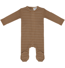 Pronto Pronto Ribbed with Shimmer Stripe Footie Pajama