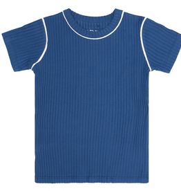 BRB BRB Ribbed T-Shirt with Contrast Trimming