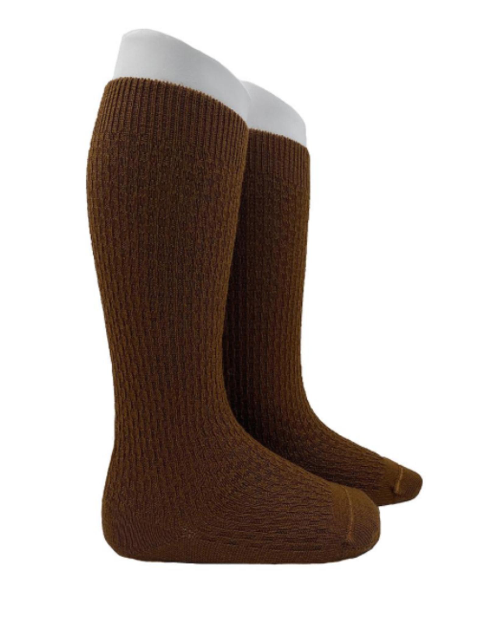 Condor Condor Wool Link Pattern Knee Sock