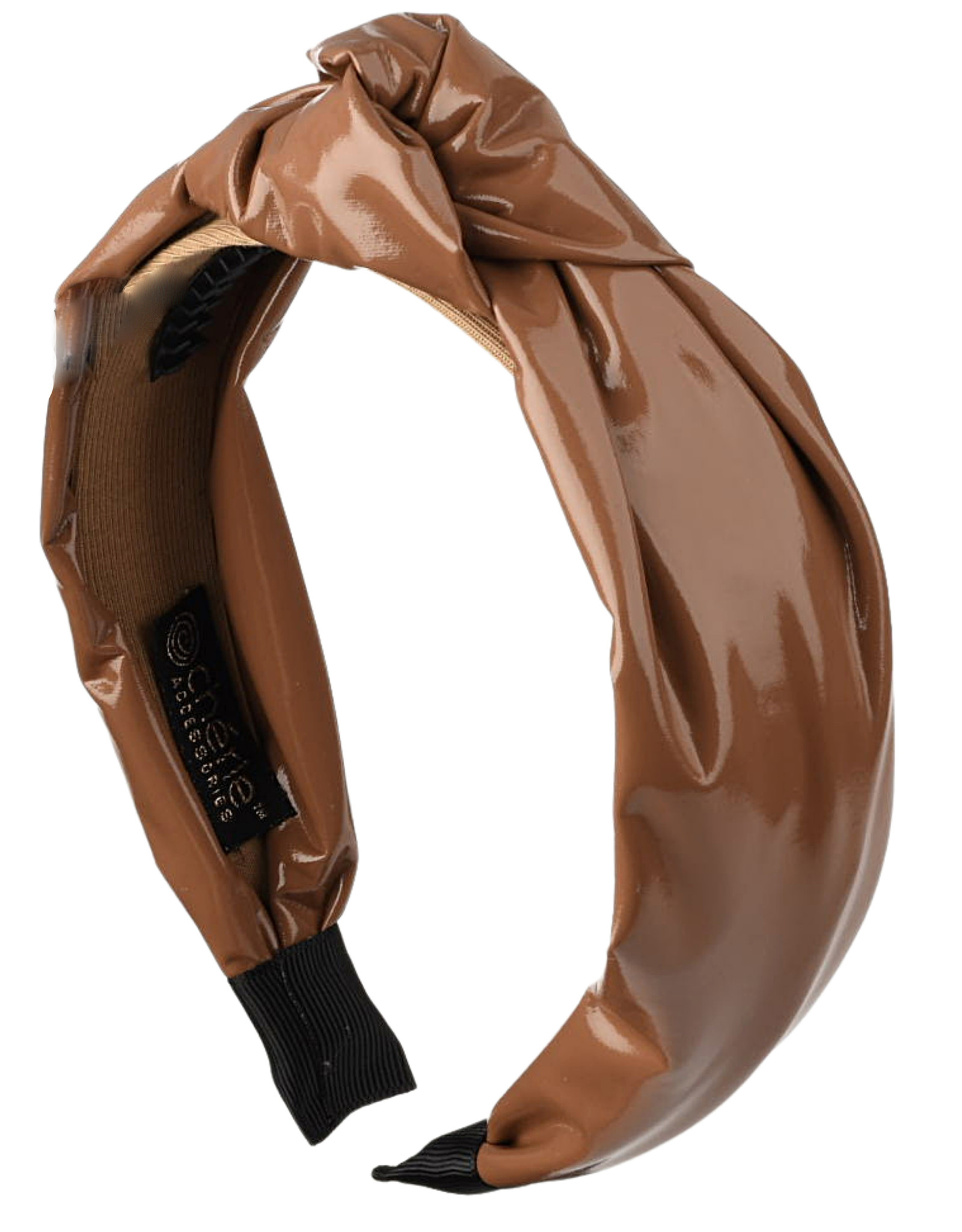 Cherie Cherie Patent Leather Puffy Knot Headband