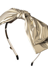 Cherie Cherie Light Leather Double Layer Bow Headband