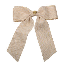 Cherie Cherie Metallic Grosgrain Double Looped Bow Clip
