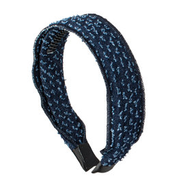 Cherie Cherie Dotted Denim Flat Headband