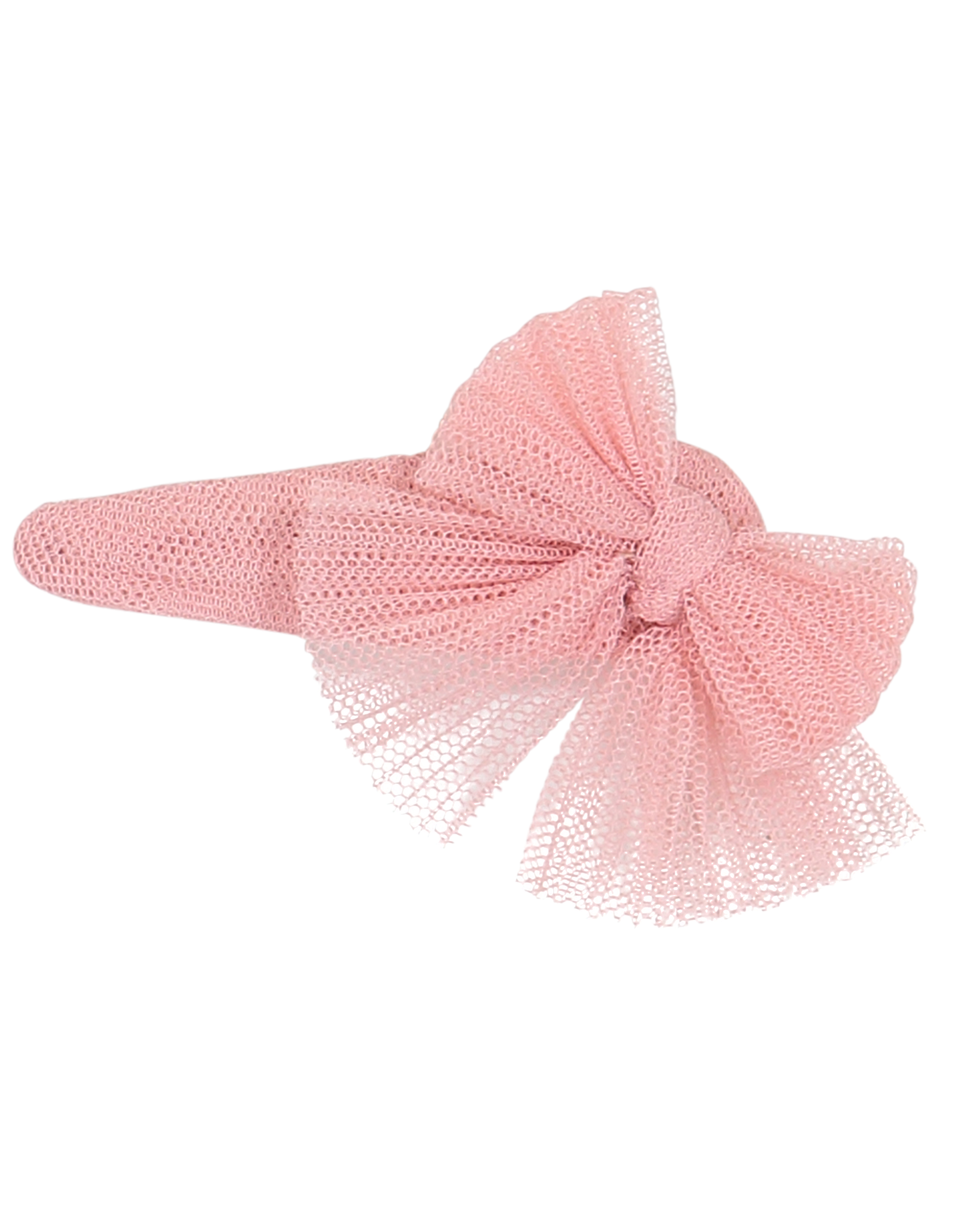 Dacee Dacee Tulle Pleated Bow Snap Clip