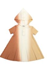 BLA BLA Bla Bla Waffle Knit Dip Dye Dress with Hood