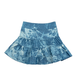 FIVE STAR Five Star Tiered TieDye Denim Skirt