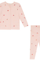 FRAGILE Fragile Cherries Printed Buttons Down the Front Pajamas