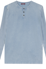 FIVE STAR Five Star Henley Shirt with Ribbed Sleeves