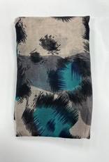 Revaz Revaz Large Leopard Print Pre-Tied Headscarf