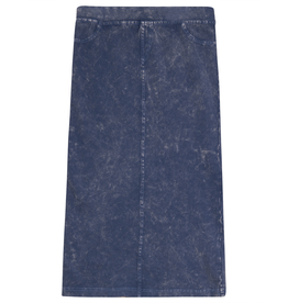FIVE STAR Five Star Long Straight Denim Wash Skirt