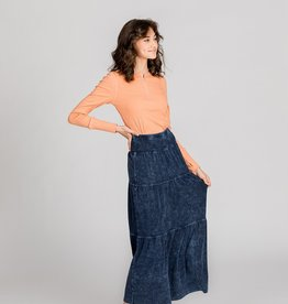 FIVE STAR Five Star TEEN Tiered Washed Long Skirt