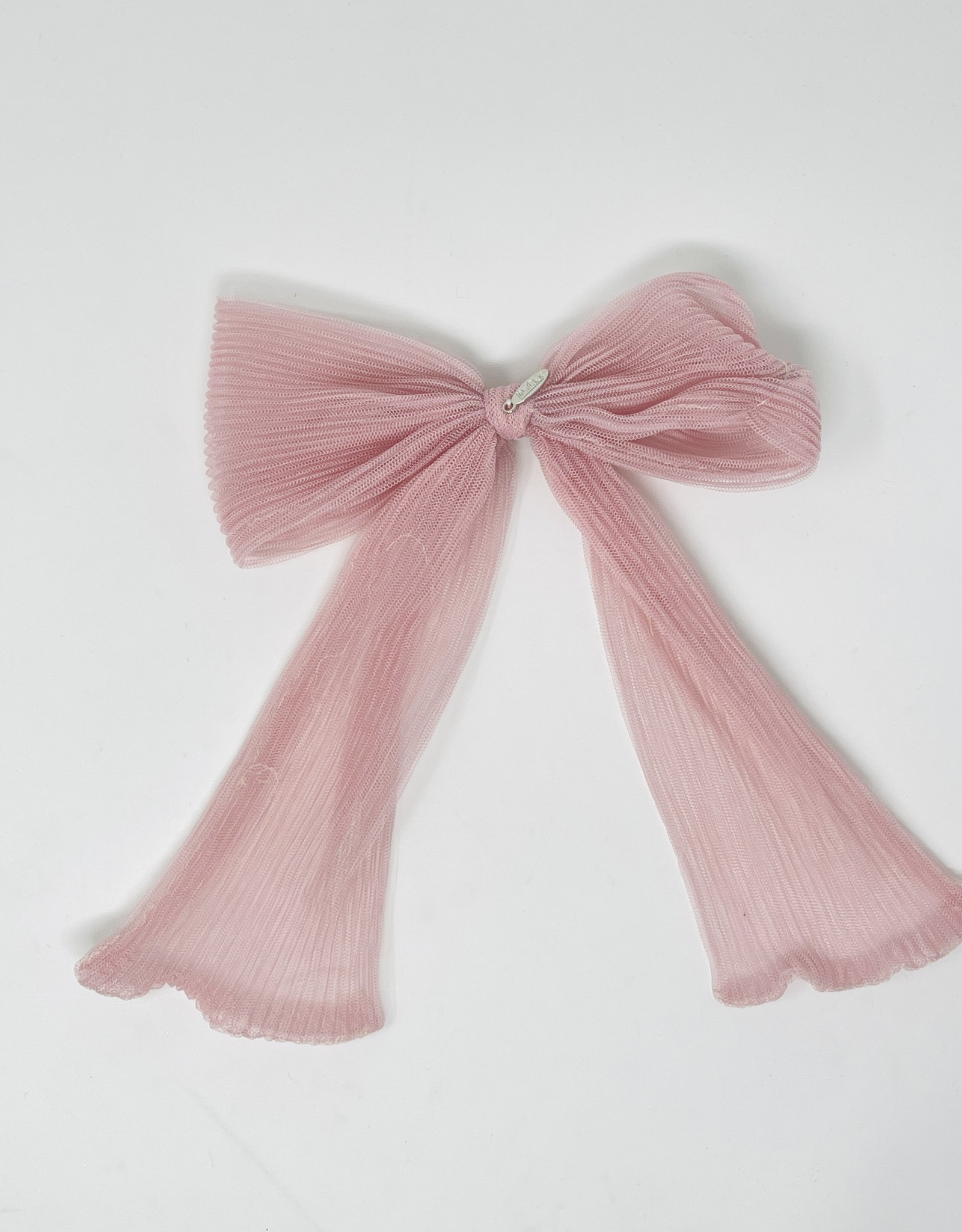Dacee Dacee Accordion Pleated Tulle Bow Clip