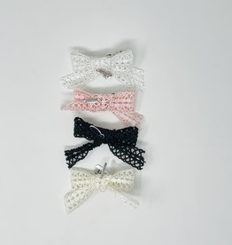 Dacee Dacee Lace Ribbon Bow Clip