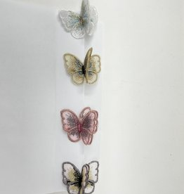Dacee Dacee Embroidered Butterfly Clip