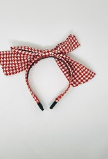 Dacee Dacee Silk Houndstooth Bow Headband