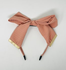 Dacee Dacee Crinkle Metal Clamp Bow Headband