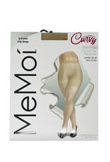 Curvy Curvy by Memoi Silky Sheer 20D Control Top Pantyhose