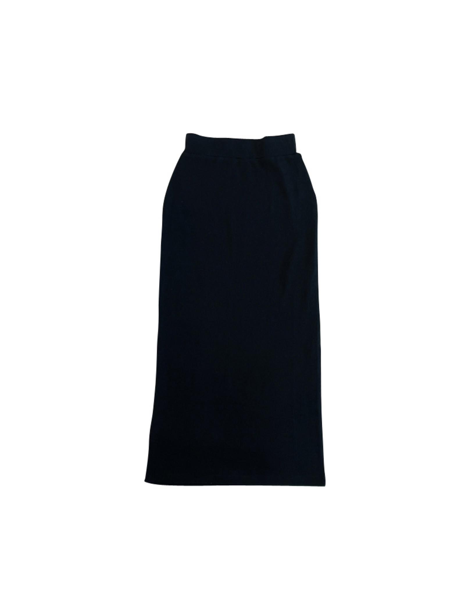 PeekABoo Peek A Boo Long Straight Ribbed Skirt