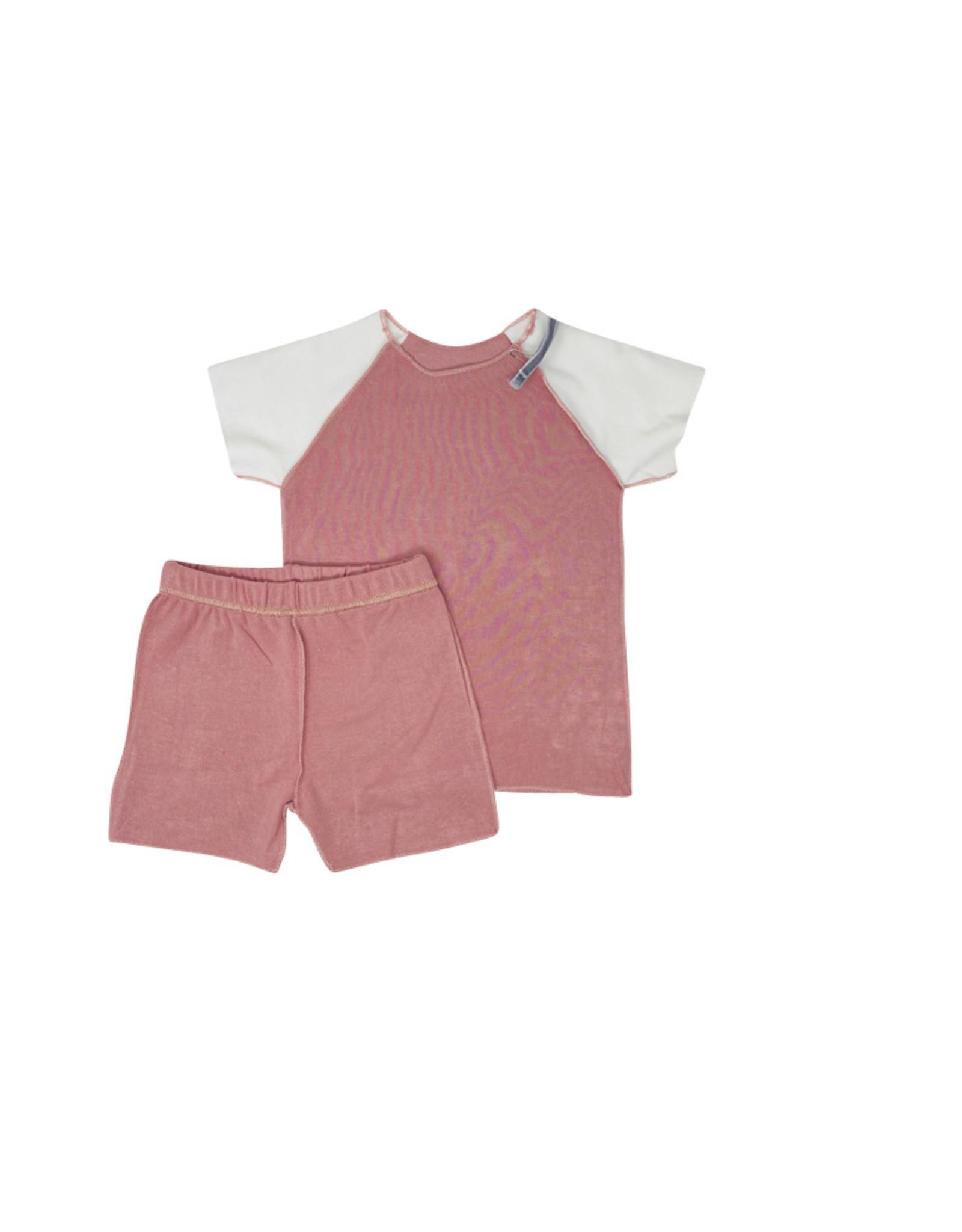 HATCH'd HATCH'D Short Sleeve/Shorts Colorblock Inside Out Set