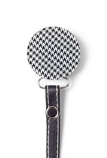 Classy Paci Classy Paci Houndstooth Circle Pacifier Clip