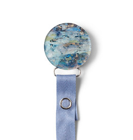 Classy Paci Classy Paci Painted Blue Circle Pacifier Clip
