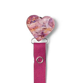 Classy Paci Classy Paci Painted Pink Heart Pacifier Clip
