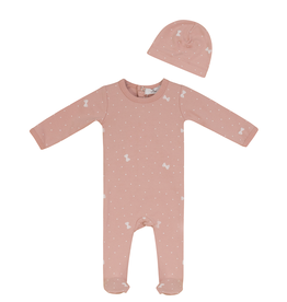 So Loved So Loved Dotted Bow Footie with Hat