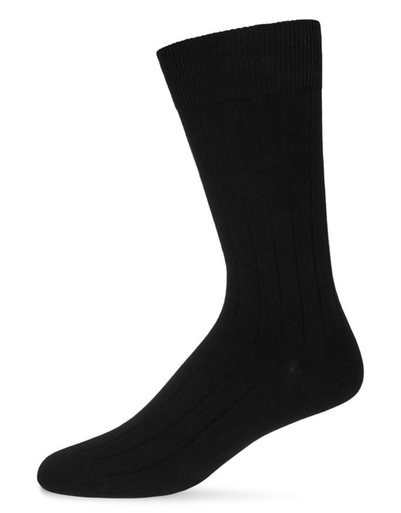 Memoi Memoi Mens Ribbed Extra Wear 3-Pack Socks