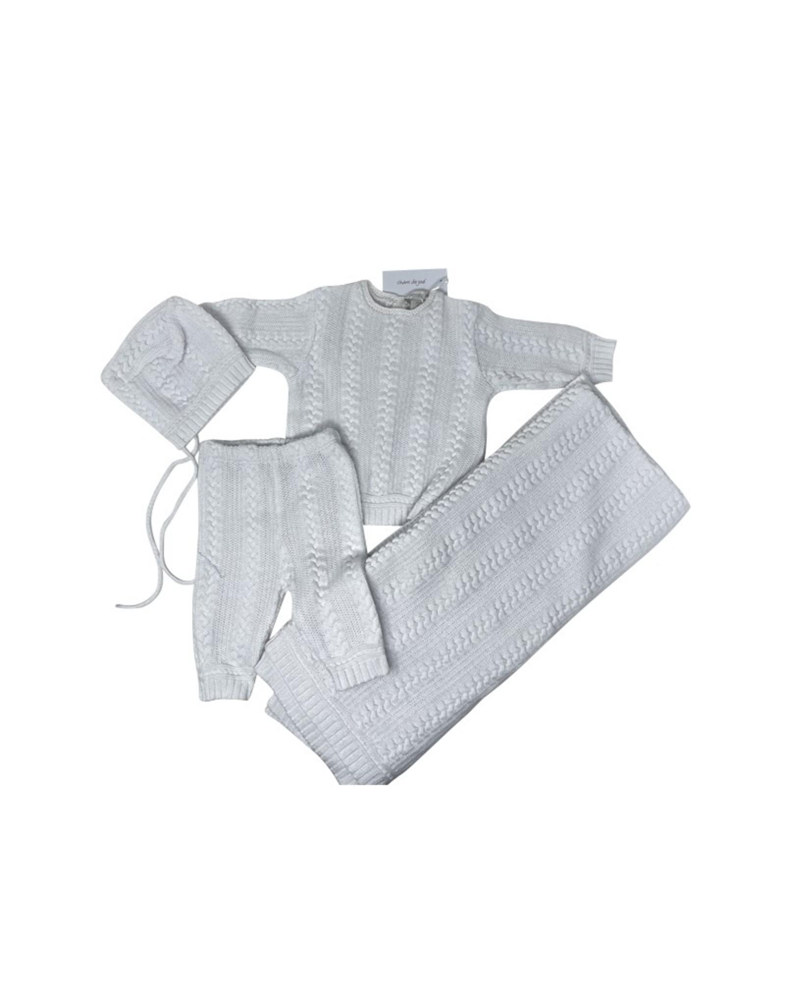 Chant De Joie Chant De Joie Braided Cable Knit Bris 4 Piece Set