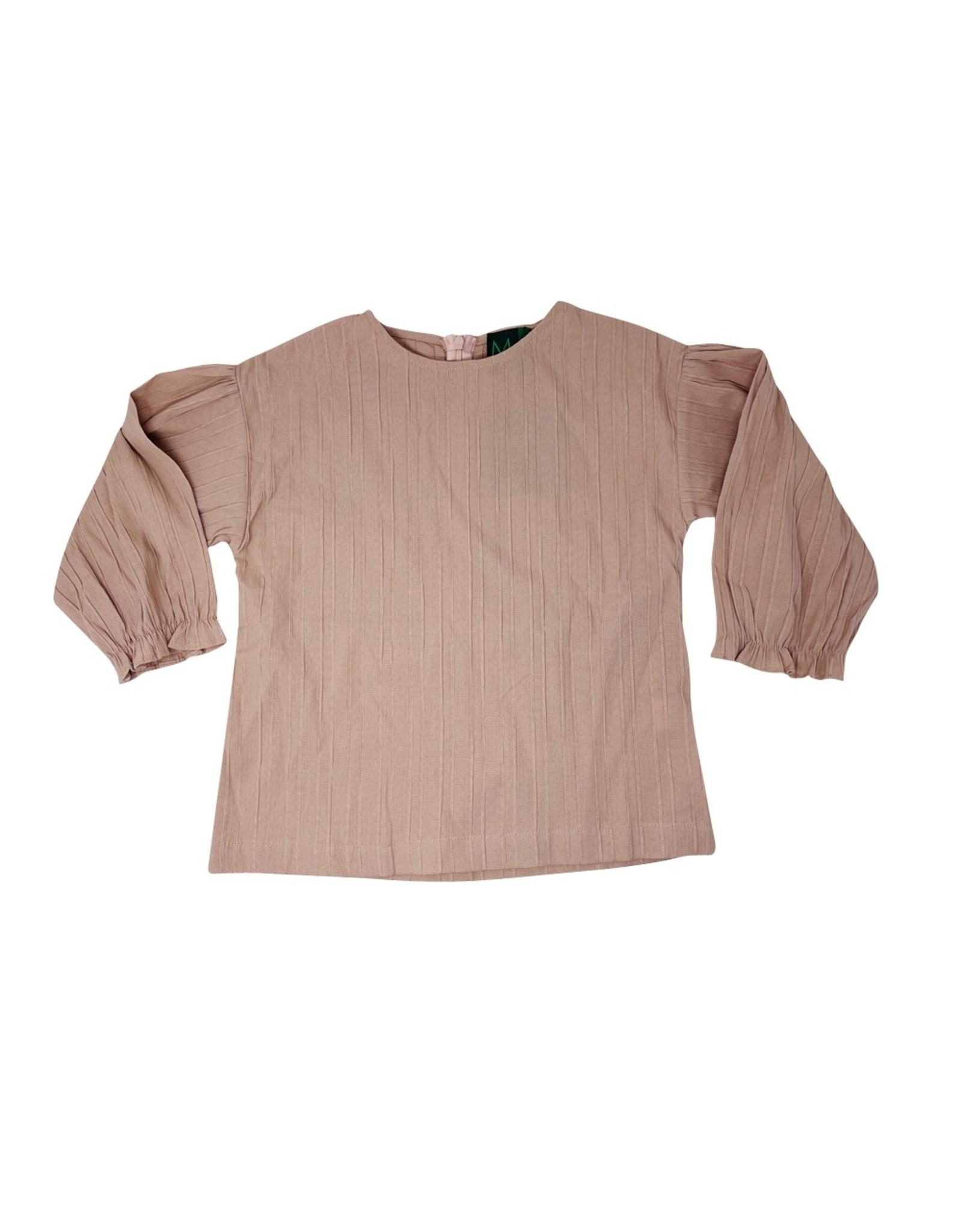 Miss Meme Miss Meme Dressy Ribbed Top with Ruffle Sleeve