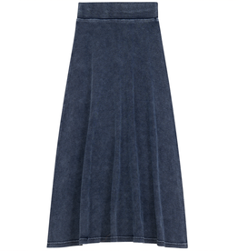 PeekABoo Peek A Boo Ribbed Stretch Denim Aline Long Skirt