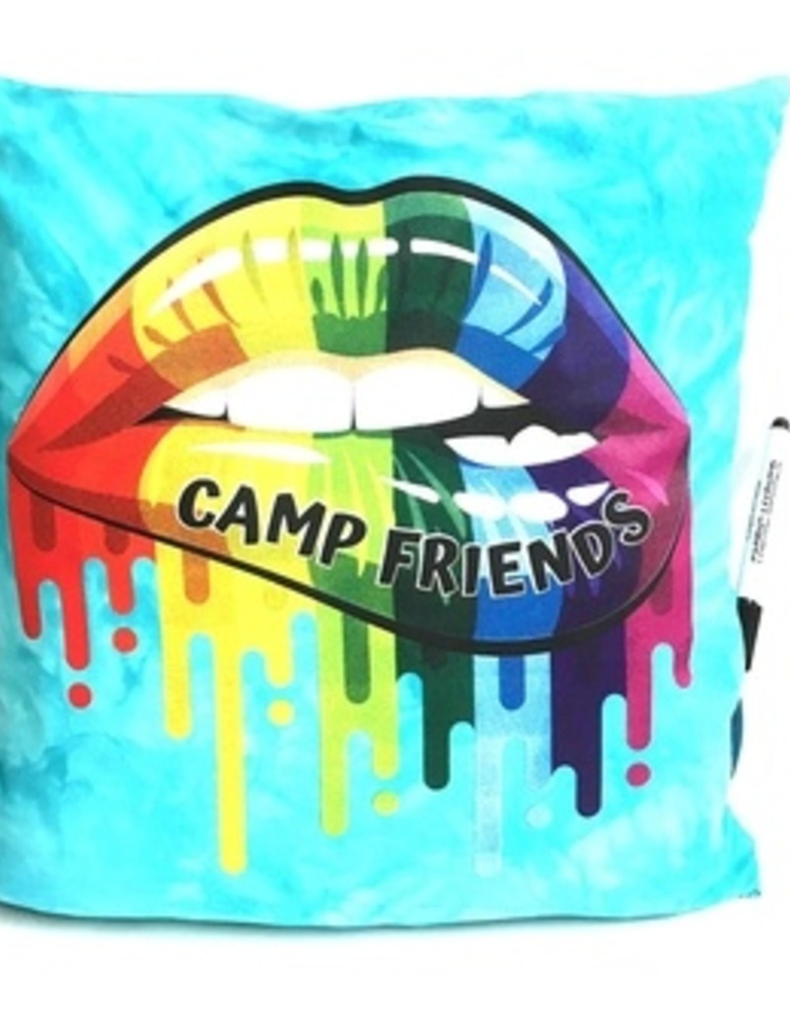 Bunk Junk Bunk Junk Camp Friends Lips Autograph Pillow