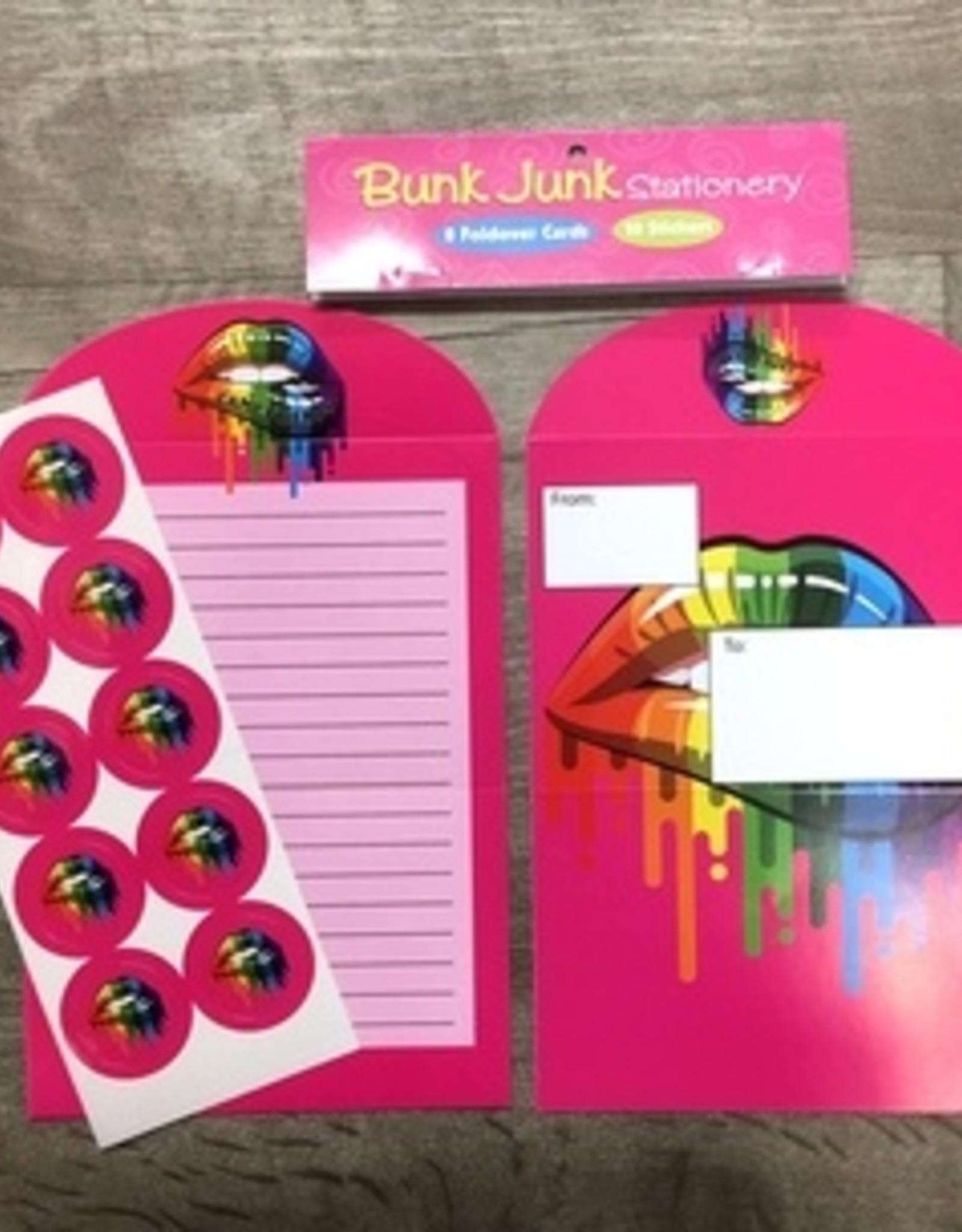 Bunk Junk Bunk Junk Camp Friends Lips Stationery Set
