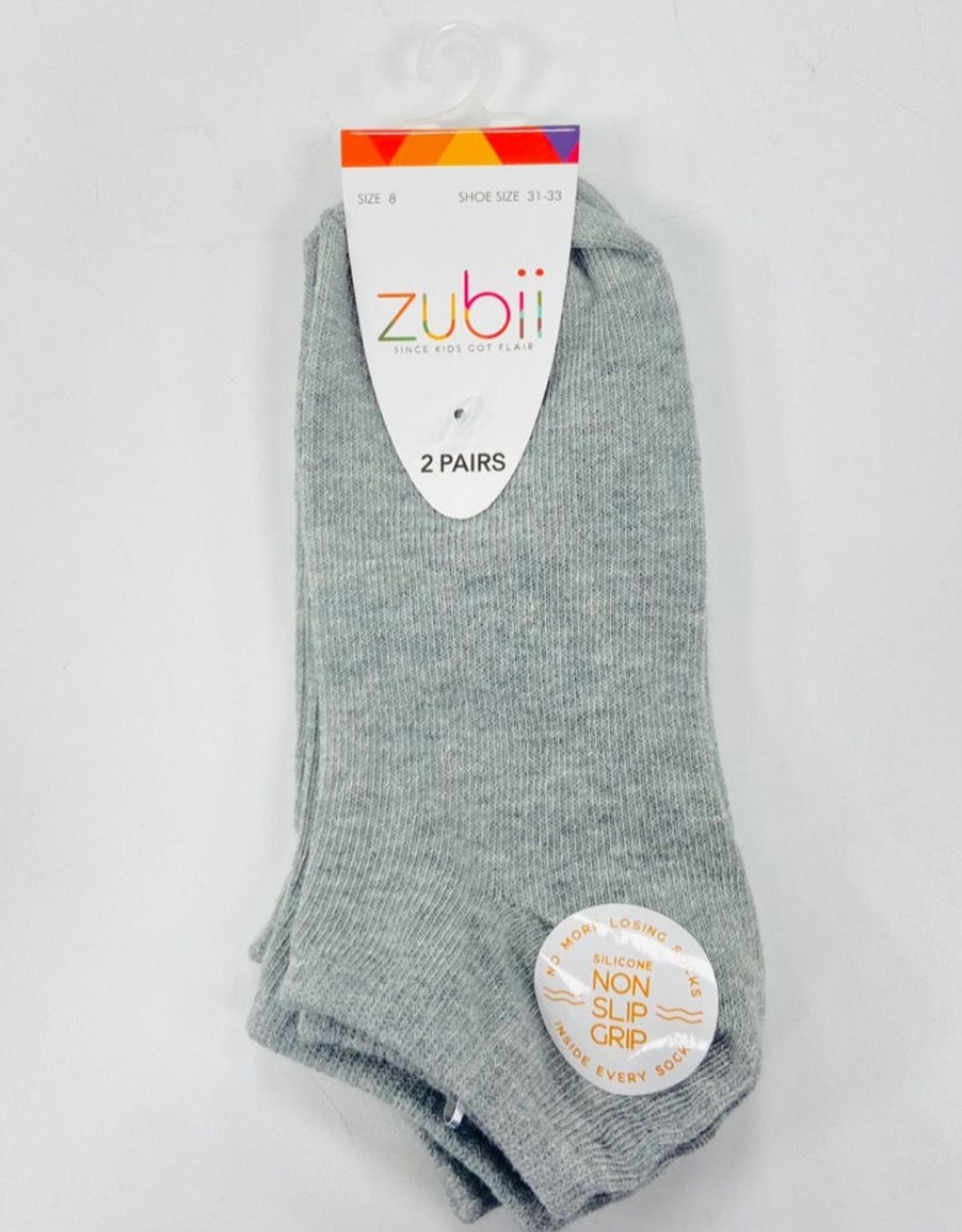Zubii Zubii 2-Pack No Show Socks with Non Slip Grip