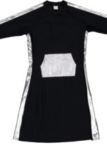 Dacee Dacee Metallic Swim Dress with Kangaroo Pocket