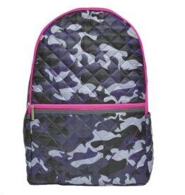 ISCREAM Iscream Camo Backpack with Pink Zipper