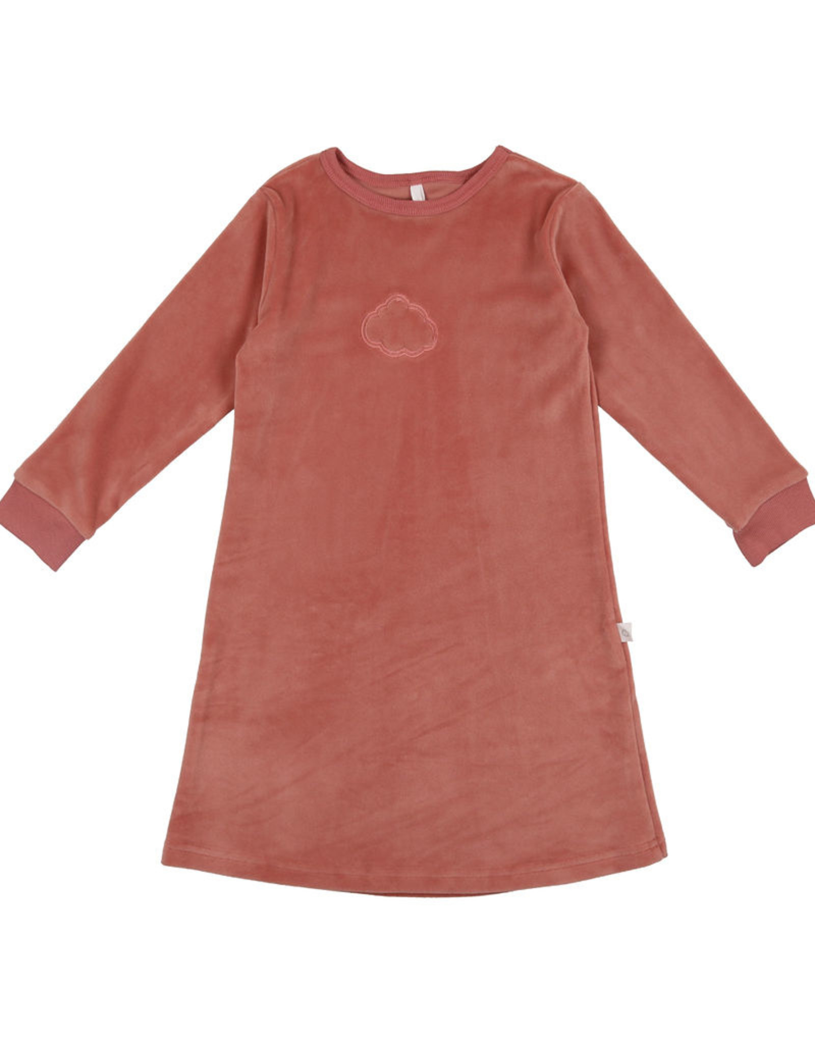 Pouf Pouf Velour Nightgown with Embossed Cloud