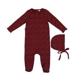 Pouf Pouf Star Printed Footie with Bonnet Pajama