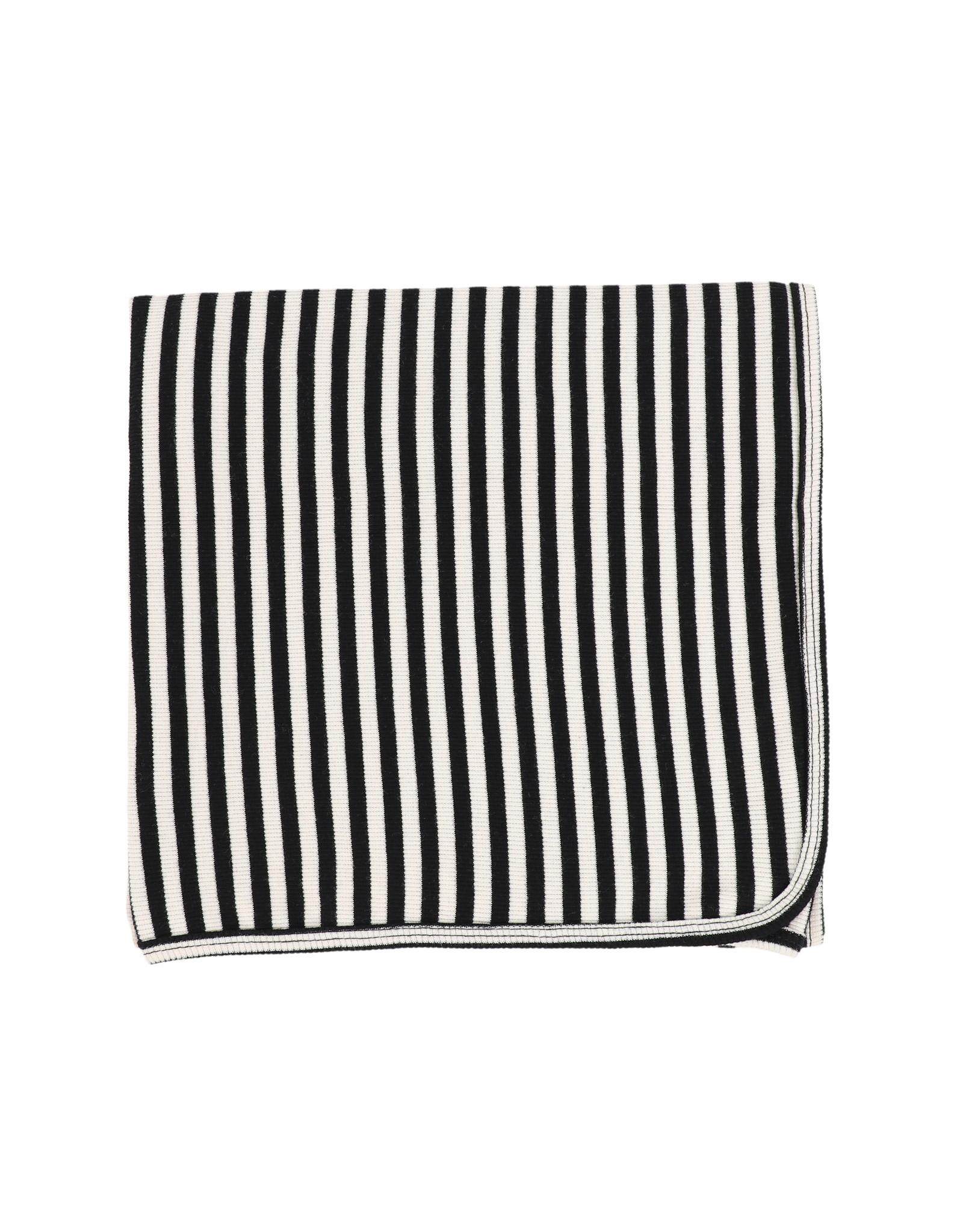LIL LEGS FW21 Stripe Classic Ribbed Blanket