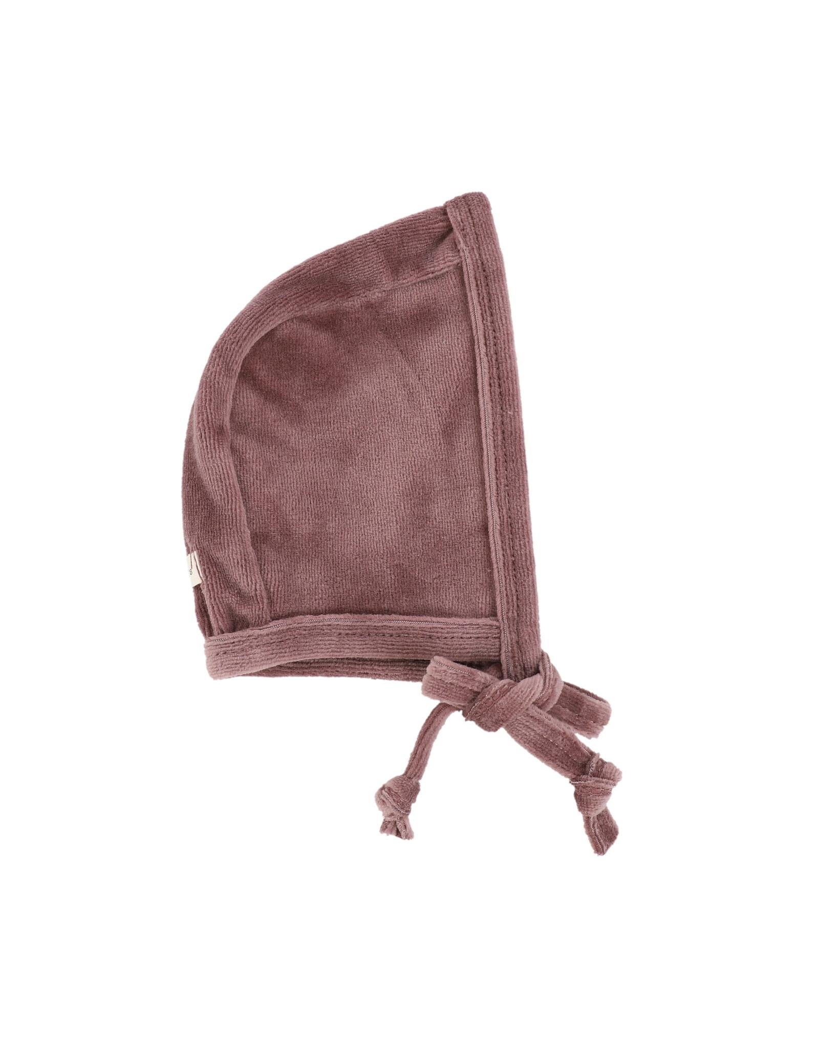 LIL LEGS FW21 Classic Velour Bonnet