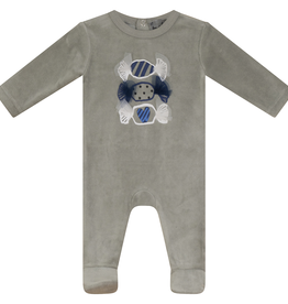 Small Moments Small Moments Candy Print Velour Footie