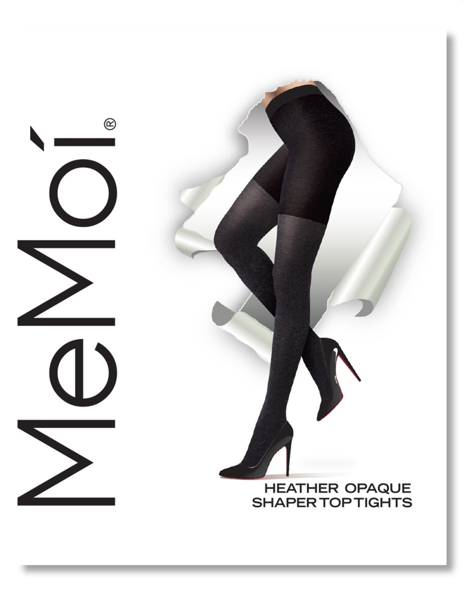 Memoi Memoi Heather Opaque Shaper Tights