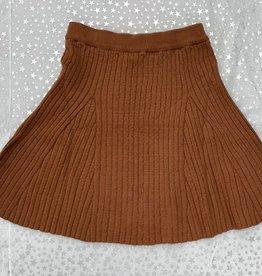 FRAGILE Fragile Reverse Cable Rib Knit Skirt