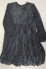 Hopscotch Hopscotch Leopard Flocked Tiered Dress