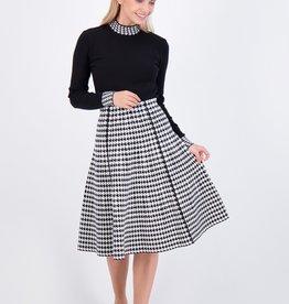 Noni Noni Paneled Knit Skirt